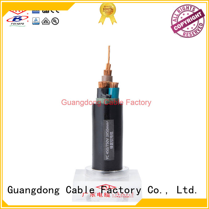 strong mechanical rubber flexible cable urban project