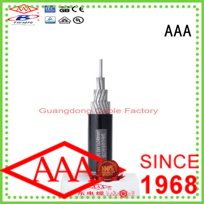 geographical aerial bunched cable large transmission capacity for wholesale